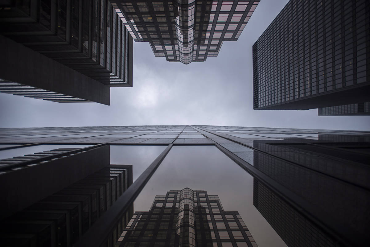 Bank buildings are photographed in Toronto's financial district on June 27, 2018. A coalition of Canadian business leaders have announced a strategic partnership for a program to support Black professionals on Bay Street and elsewhere. THE CANADIAN PRESS/ Tijana Martin