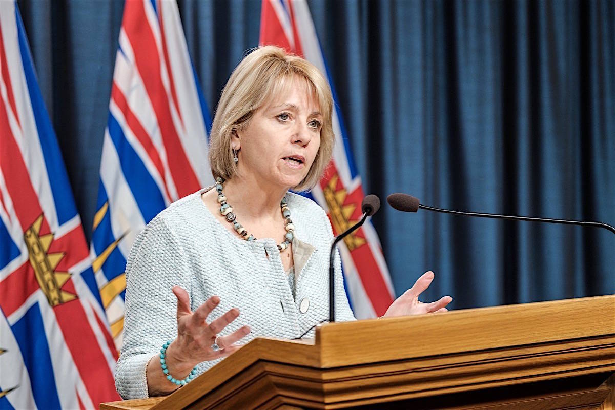 FILE – Provincial health officer Dr. Bonnie Henry says she's 'concerned' by a recent spike in COVID-19 cases. (B.C. Government photo)