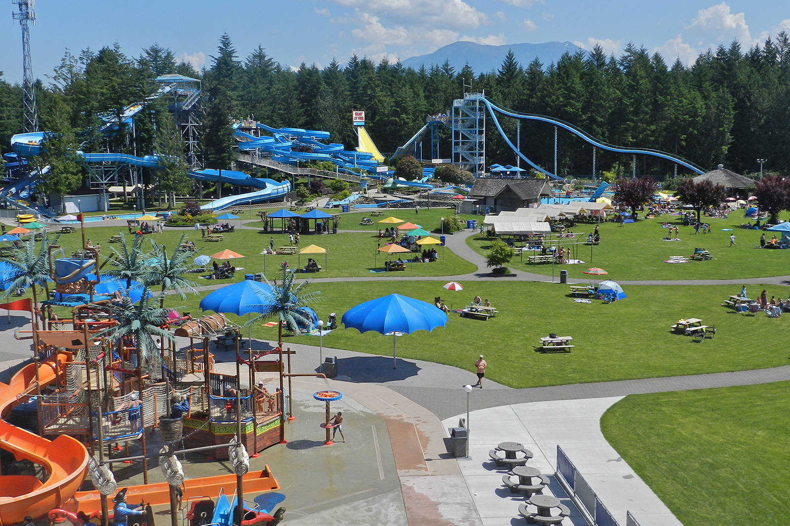 Cultus Lake Waterpark and adjacent Adventure Park have reopened on a limited basis, while some tourism businesses are more dependent on out-of-province visitors. (Cultus Lake Waterpark)