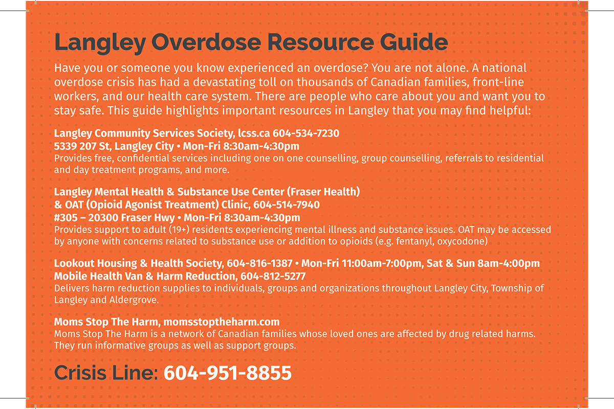 Community action table initiates overdose response card project to save Langley lives