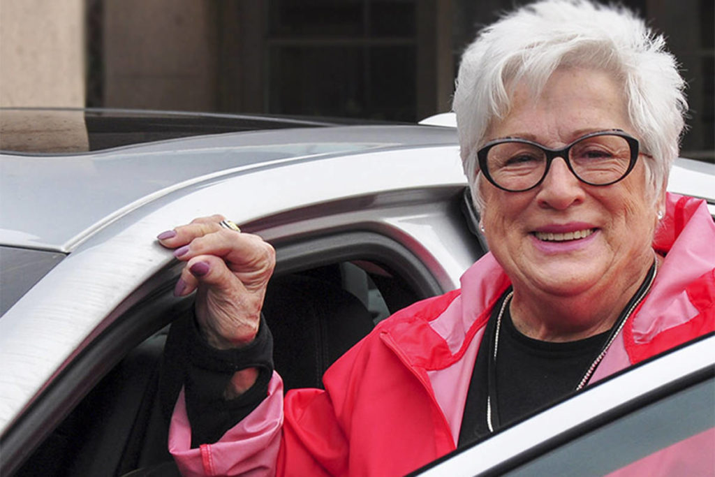 Nancy Salmon, a cancer drivers society volunteer. (Envision Financial/Special to the Langley Advance Times)
