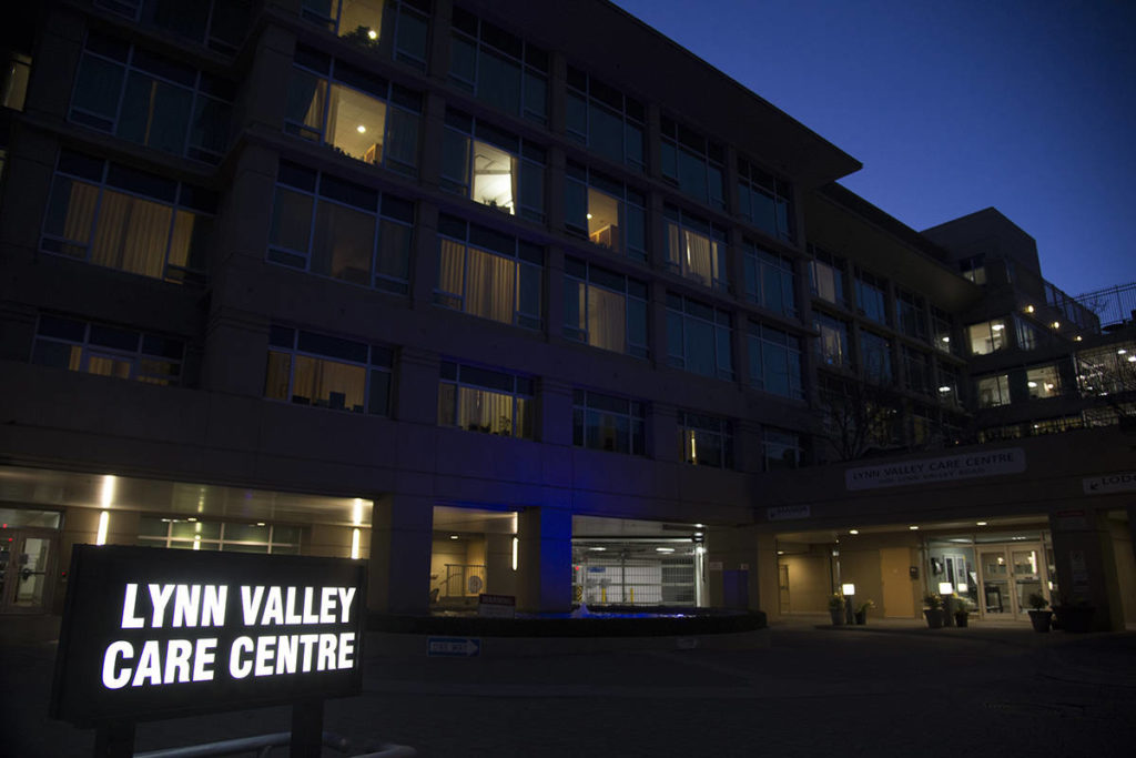 The Lynn Valley Care Centre in Lynn Valley in North Vancouver, B.C. Monday, March 16, 2020. THE CANADIAN PRESS/Jonathan Hayward