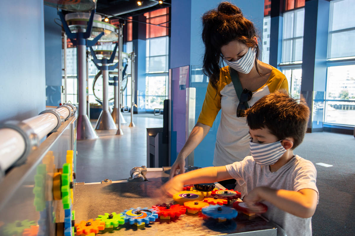 Science World will reopen to the public on Aug. 1, 2020, following four days of free admission for essential workers. (Science World)