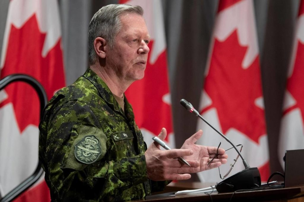 Chief of defence staff Jonathan Vance says he'll relinquish his post as chief of the defence staff 'in the months to come' (The Canadian Press)