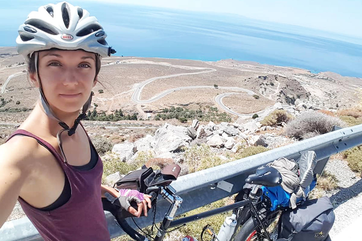 Daphne Toumbanakis had almost 10,000 km of cycling experience. (Contributed photo)