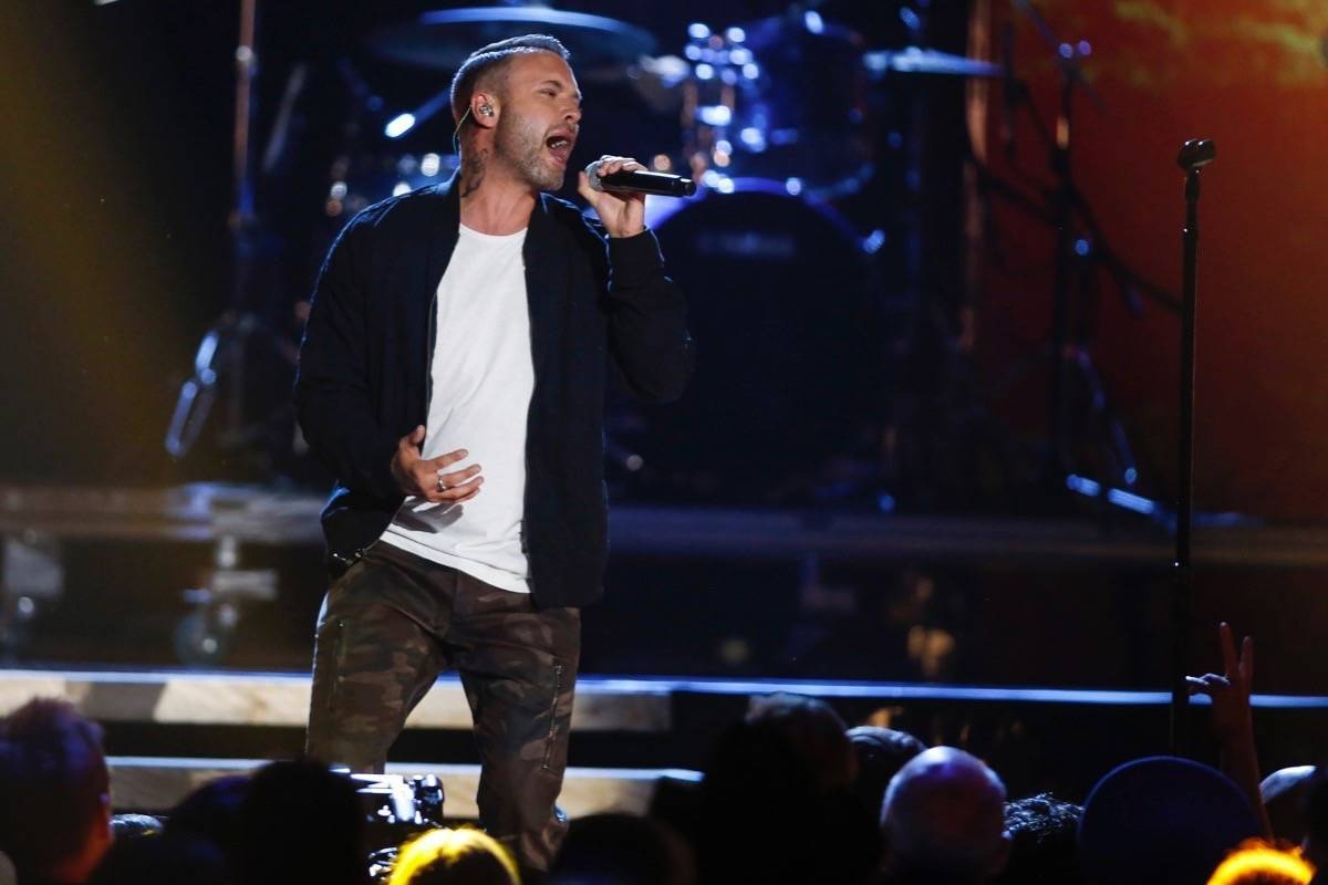 Dallas Smith performs at the Canadian Country Music Awards in Calgary last September. (Jeff McIntosh/Special to the Langley Advance Times)