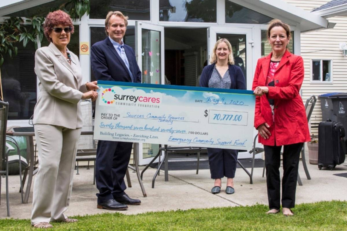 Sources Community Resource Society received $70,777 from SurreyCares Community Foundation. (Submitted photo: SurreyCares)