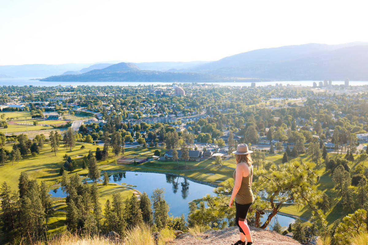 The view from the top off Dilworth Mountain in Kelowna, B.C. (Photo - Tourism Kelowna)