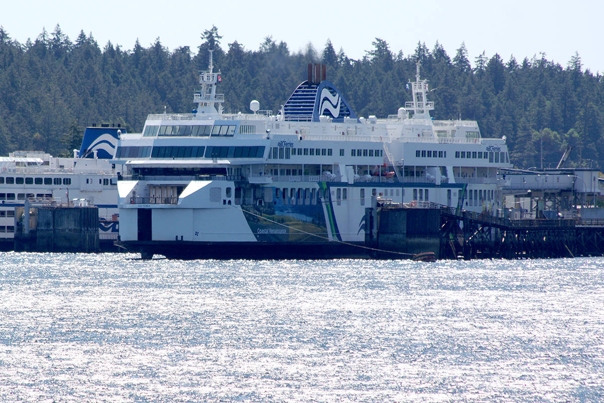BC Ferries vessels at Nanaimo's Departure Bay terminal last week. (Chris Bush/News Bulletin)