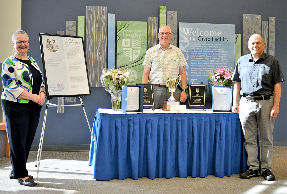 Awards honouring athletics, grades, and volunteering handed out by Langley Township