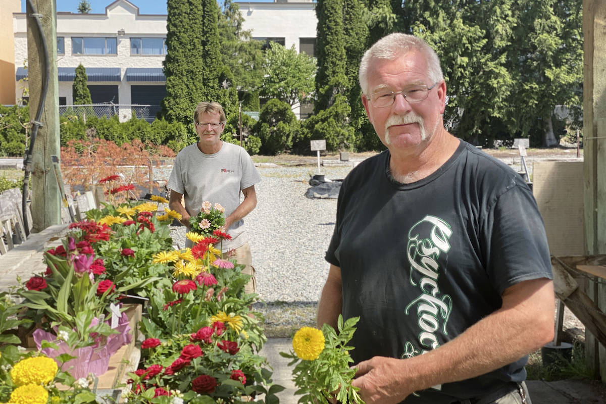 Brothers Rick and Raymond Van Bugnum are retiring their family-owned business, All Seasons Garden Centre at 27491 Fraser Hwy., after more than 34 years in the community. (Sarah Grochowski/Aldergrove Star)