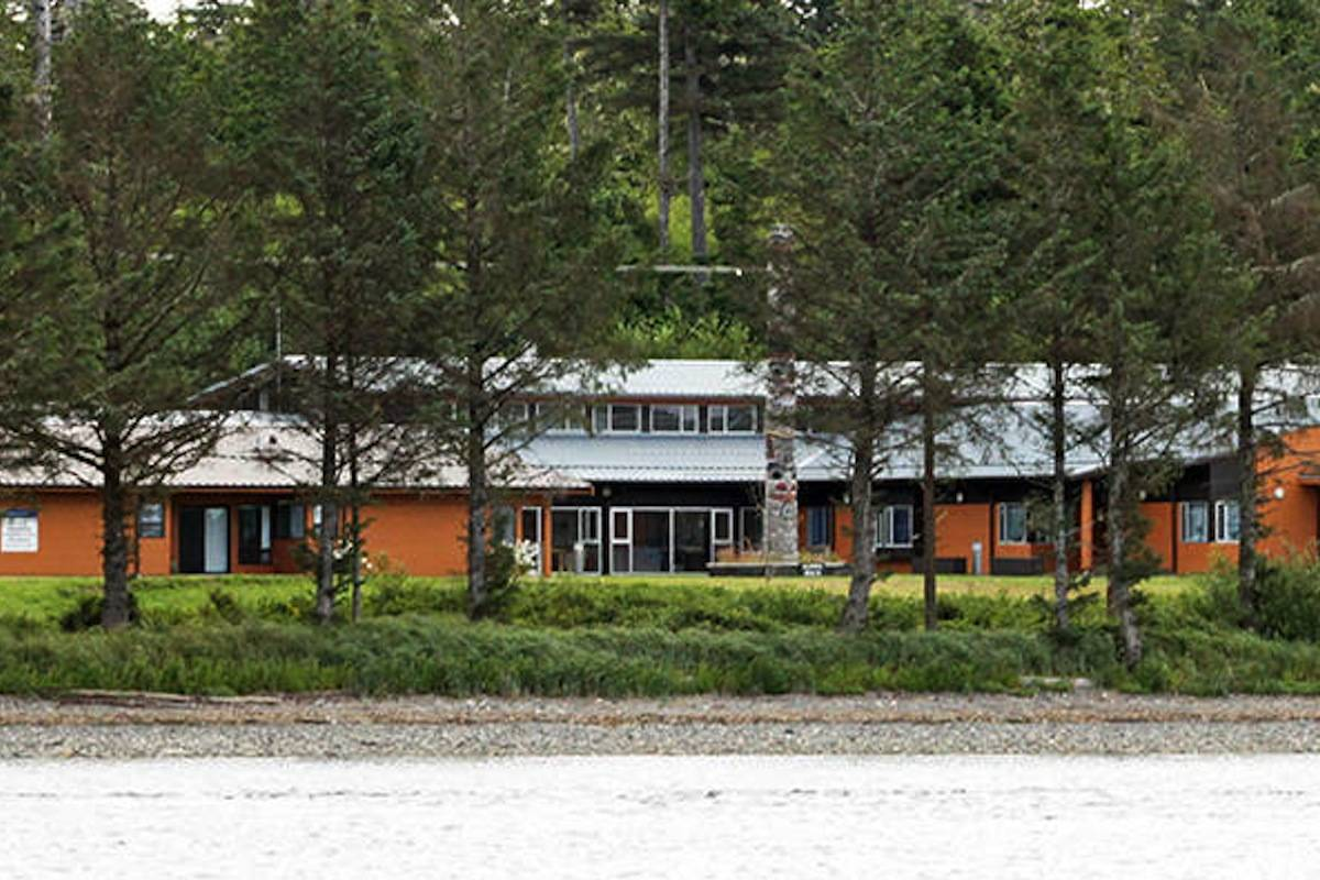 A view from the water shows the Northern Haida Gwaii Hospital and Health Centre. (Haida Gwaii Observer/File photo)