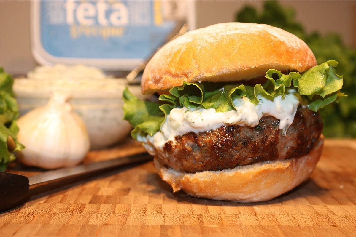 Add spices when mixing and be sure to top off with tzatziki, lettuce, and tomato to make this burger irresistible. (Chef Dez/Special to Black Press Media)