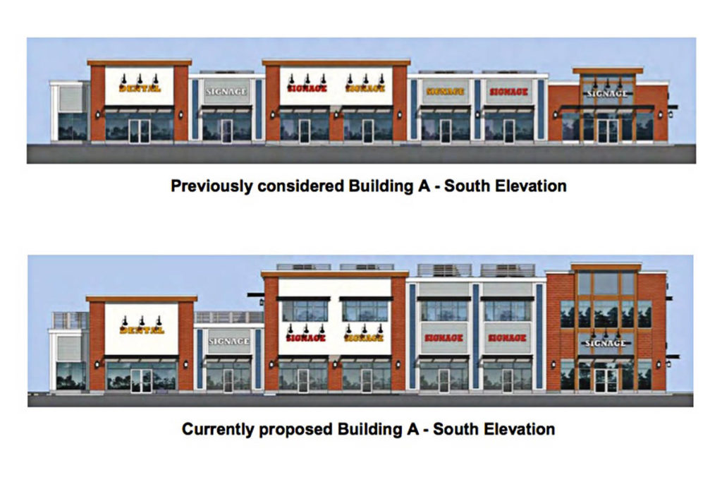 Pollyco Group has proposed increasing one planned building's height to two stories. (Township of Langley)