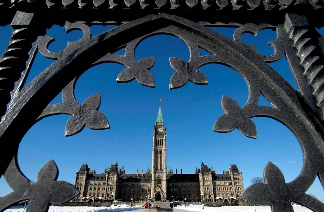 FILE – Centre Block is shown through the gates of Parliament Hill in Ottawa on Feb. 11, 2014. THE CANADIAN PRESS/Justin Tang