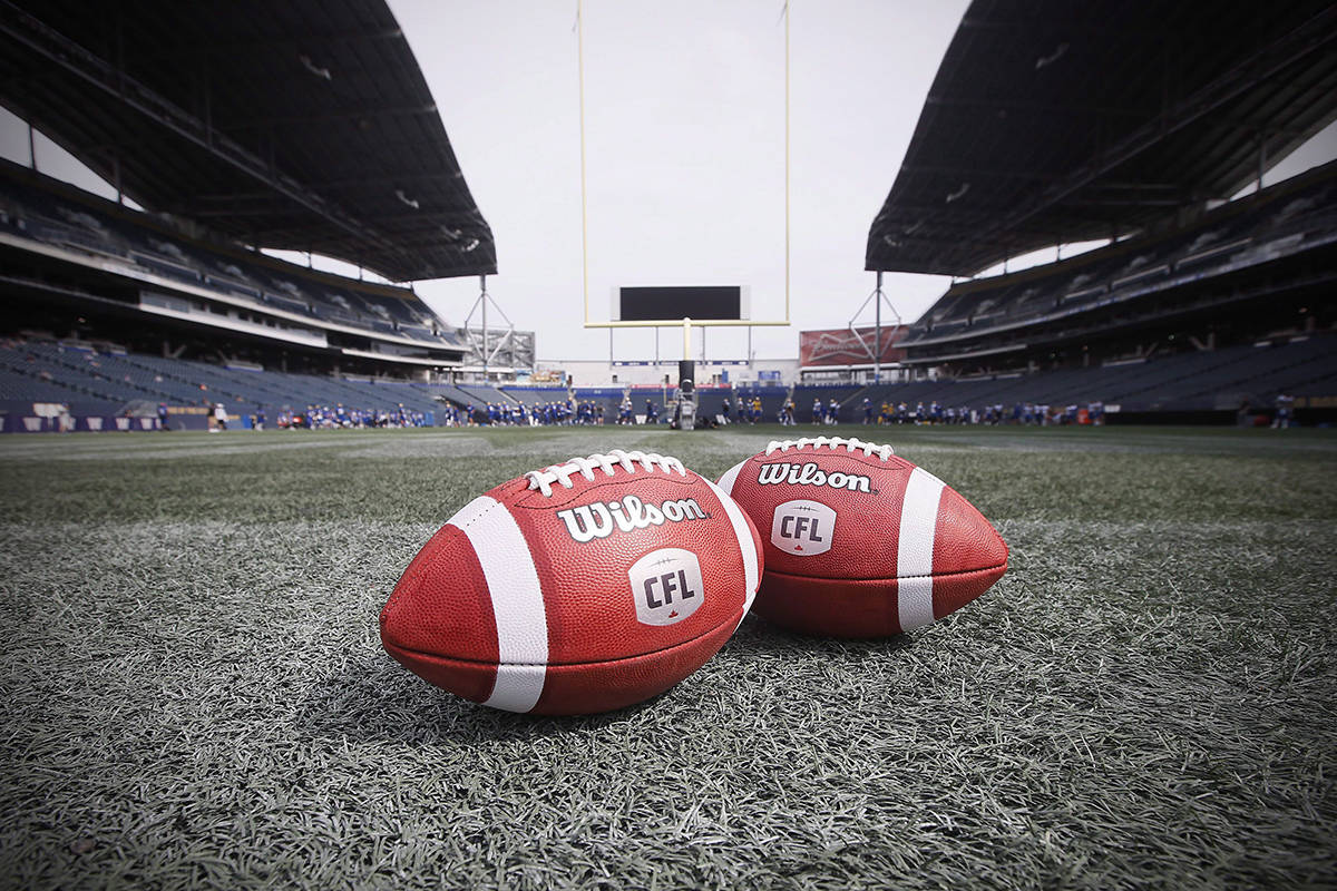 A league source said Monday that Ottawa and the provinces are both looking for additional certainty from the CFL as they consider its latest financial ask. New CFL balls are photographed at the Winnipeg Blue Bombers stadium in Winnipeg Thursday, May 24, 2018. THE CANADIAN PRESS/John Woods