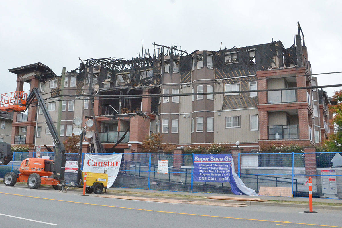 Madison Place was the scene of a fire on Friday, July 17, that displaced all the residents. (Heather Colpitts/Langley Advance Times)
