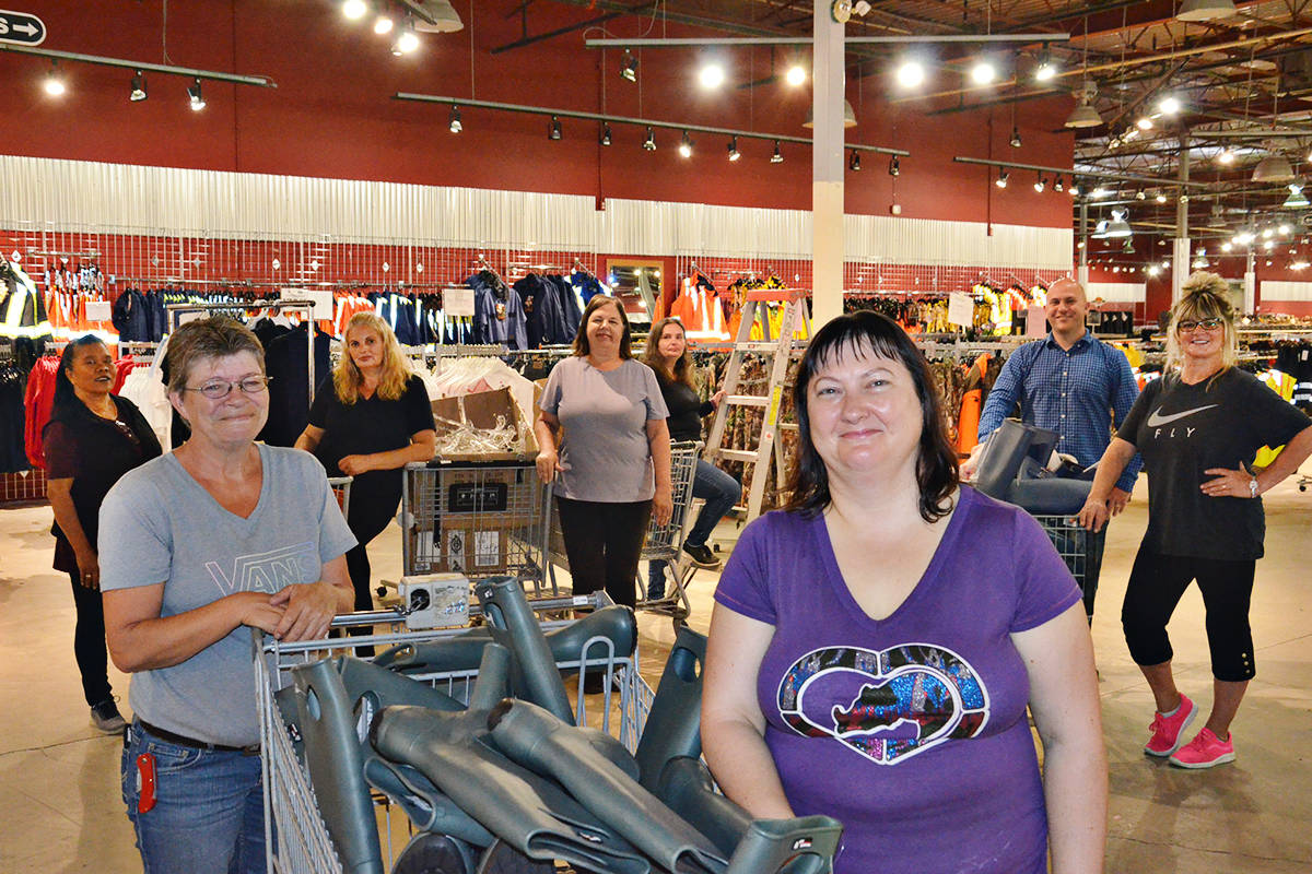 Many of the staff at new McFrugal's Discount Outlet are former employees of the Langley Army and Navy store. (Heather Colpitts/Langley Advance Times)