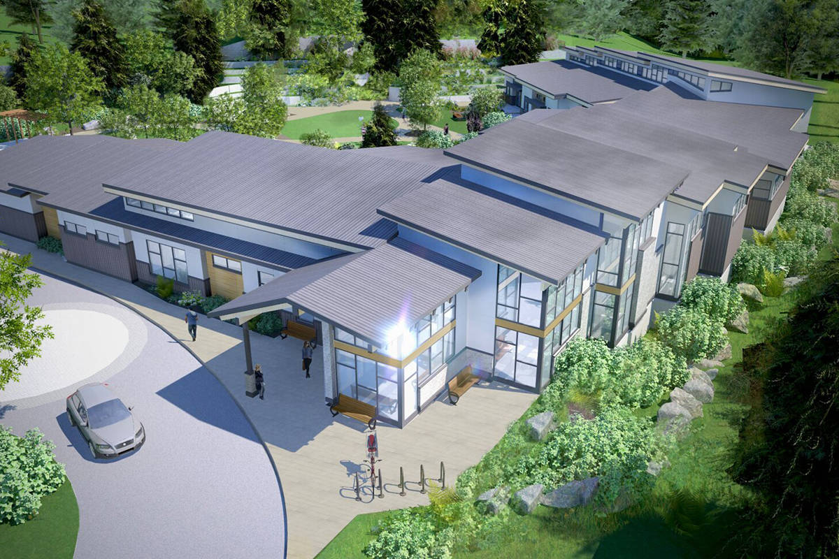 The new local hospice residence is under construction and expected to be done next summer. (B.C. Ministry of Health graphic)