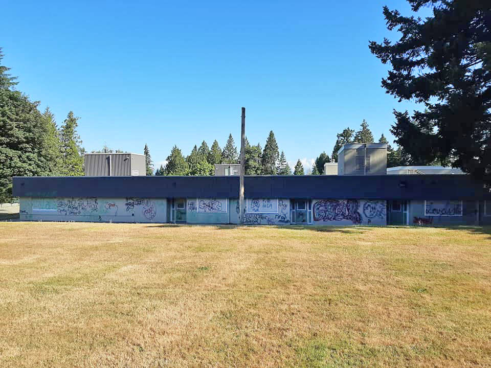 Another Langley school hit by graffitti