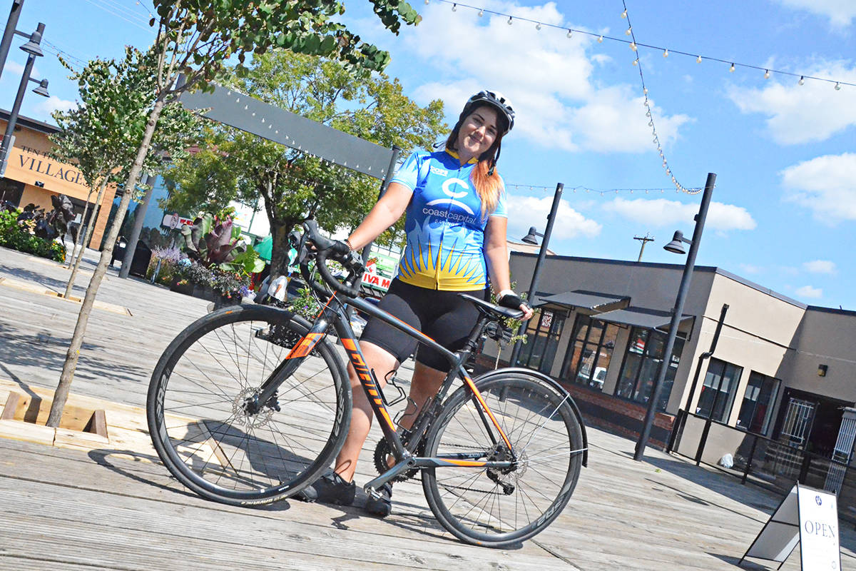 Morgan Nixon is ready to ride, and is training hard along with two dozen team mates for the Canadian Cancer Society's Cops for Cancer Tour de Valley this year. (Matthew Claxton/Langley Advance Times)