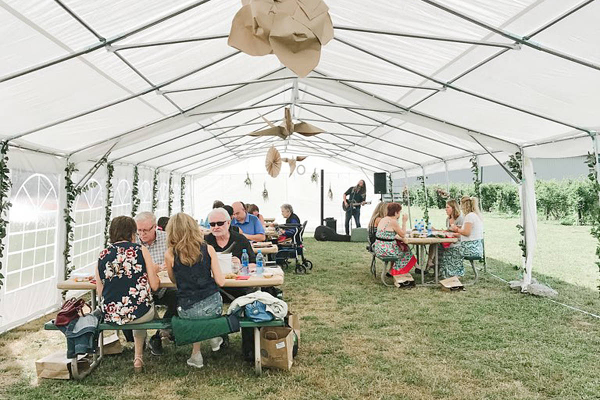 Social distancing was maintained at the annual hospice picnic fundraiser at Driedeger Farms in Langley held Saturday, Aug. 8 and Sunday, Aug. 9 (Amanda Nadeau/special to Langley Advance Times)
