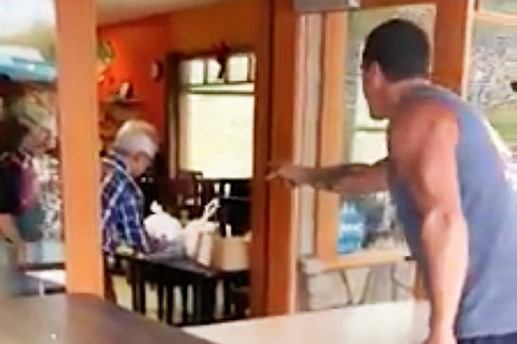 Bystanders were shocked by a man screaming profanities at the staff of the Chinese Garden Restaurant in Blind Bay on Aug. 7, 2020. (Amanda Toms/Facebook)
