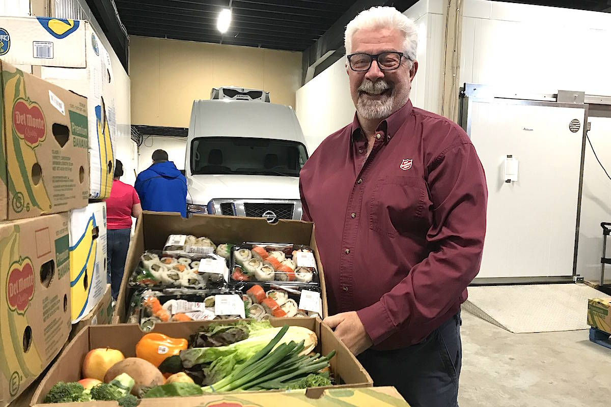 FoodMesh, a food waste recovery pilot project started in Chilliwack, with one of the participants, Don Armstrong, Chilliwack Food Bank co-ordinator, photographed on Feb. 22, 2019. (Jennifer Feinberg/ Chilliwack Progress file)
