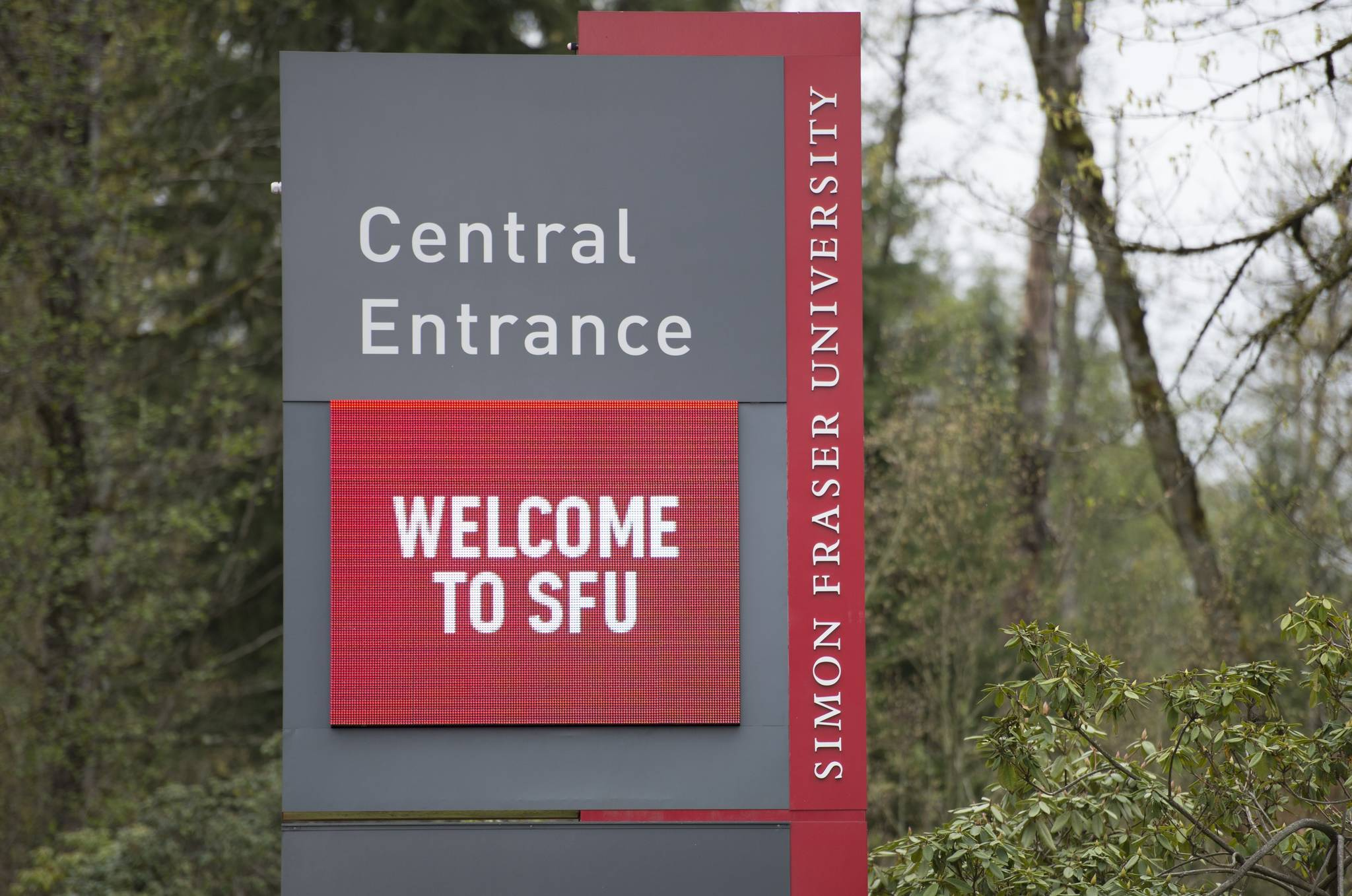 Simon Fraser University is pictured in Burnaby, B.C., Tuesday, Apr. 16, 2019. THE CANADIAN PRESS/Jonathan Hayward