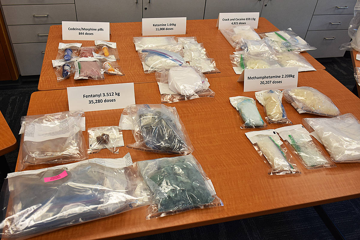 There were 72,000 doses of drugs, including fentanyl. (Neil Corbett/The News)