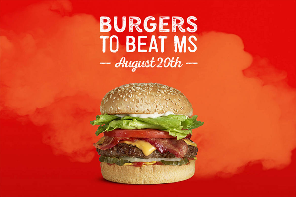 $2 from every Teen Burger sold at A&W Restaurants across Canada will be donated to the MS Society of Canada on Thursday, Aug. 20. (Screengrab/Special to Black Press Media)