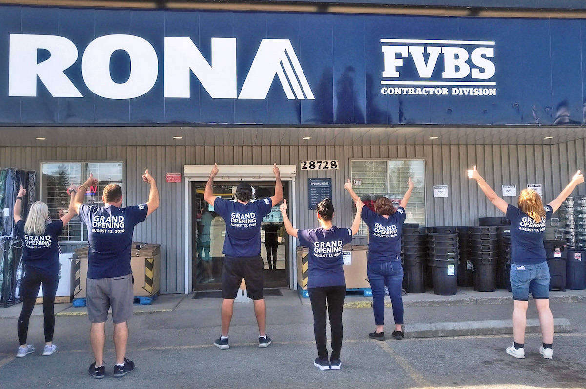 Staff have remained the same at the 28728 Fraser Hwy. store but the banner name has changed from Ace Hardware, to Rona. (Rona/Special to the Star)