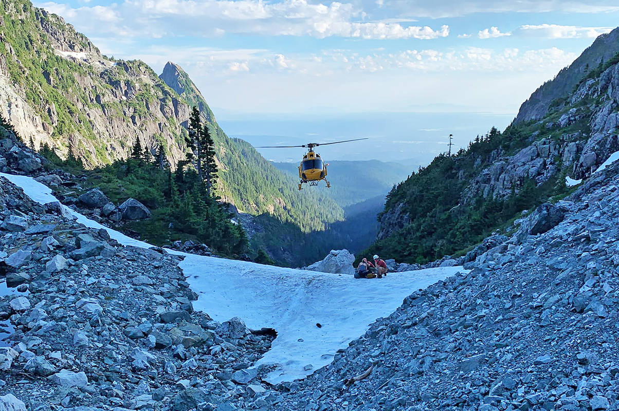 The lost hiker was rescued by helicopter at about 5 p.m. (Ridge Meadows Search and Rescue)