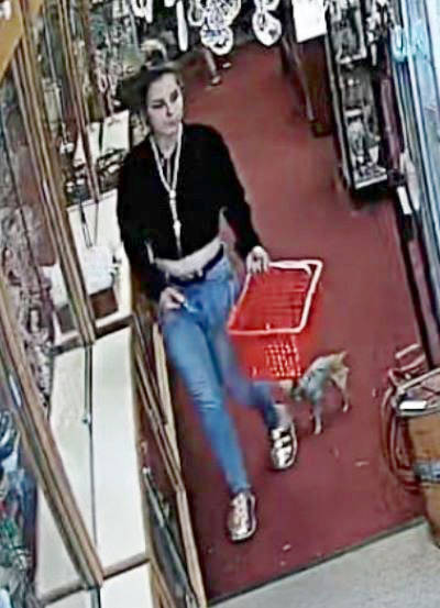 The RCMP would like to hear from anyone who can help solve local crimes in recent weeks, including the theft of jewelry from an antique store. (Langley RCMP photo)