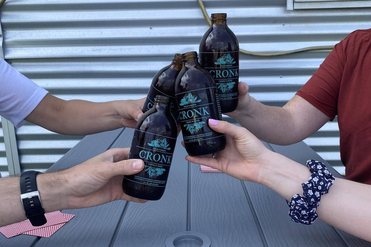 Bottles of Cronk are shown in this recent handout photo. (Cold Garden Beverage Company, Trevor Cox)