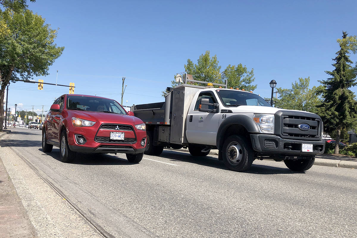Langley Township and City recently received federal gas tax revenue which they have earmarked for capital projects, including roadwork. (Heather Colpitts/Langley Advance Times)