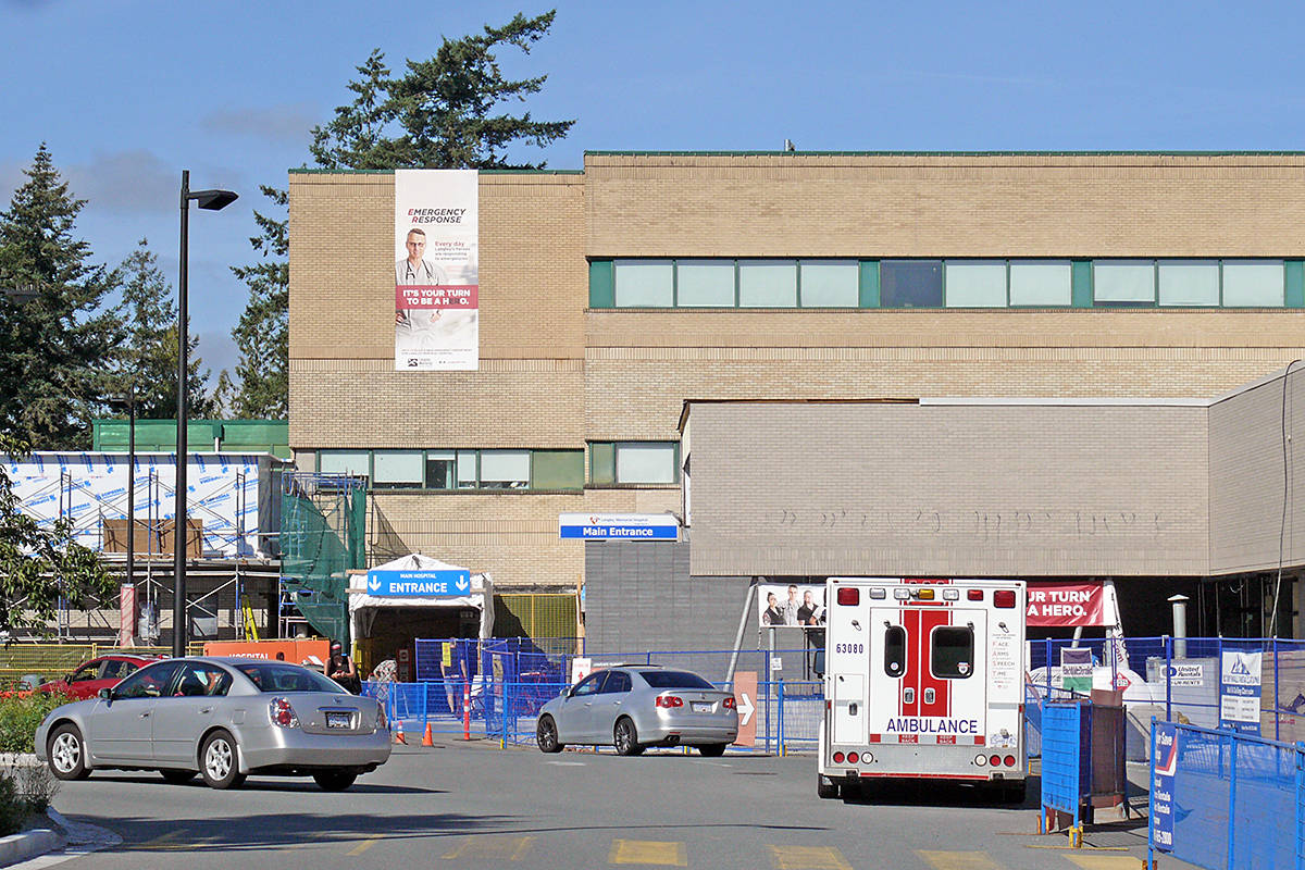 No new patients are being admitted to the general surgery unit at Langley Memorial Hospital while Fraser Health investigates whether a patient who tested positive for COVID-19 after being discharged from hospital spread the virus. (Dan Ferguson/Langley Advance Times)