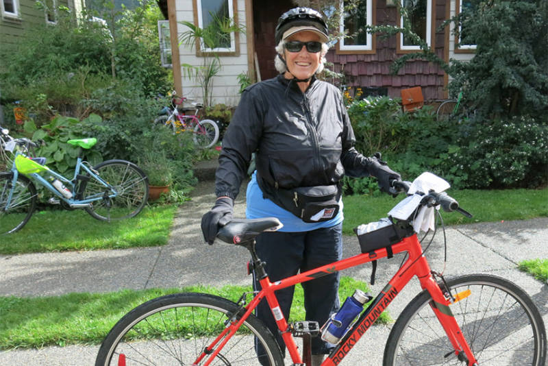 Jean Douglas-Webb of Abbotsford is participating in the fourth annual Solidarity Cycle on Sept. 13 to raise money for African grandmothers who are raising their grandchildren orphaned by AIDS. (Submitted photo)