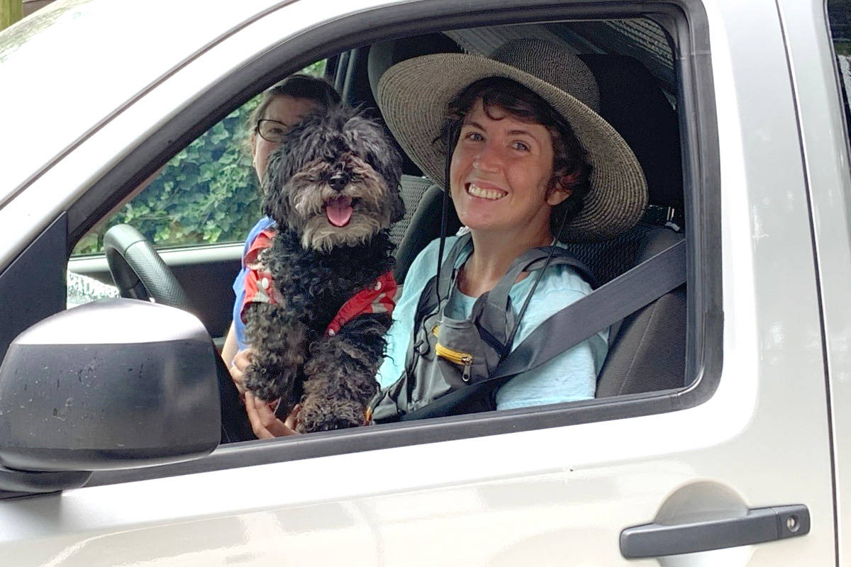 Katie Hobson in the 2016 Nissan Frontier that has been purchased to replace her run-down 1995 Ford Ranger. (Submitted photo)