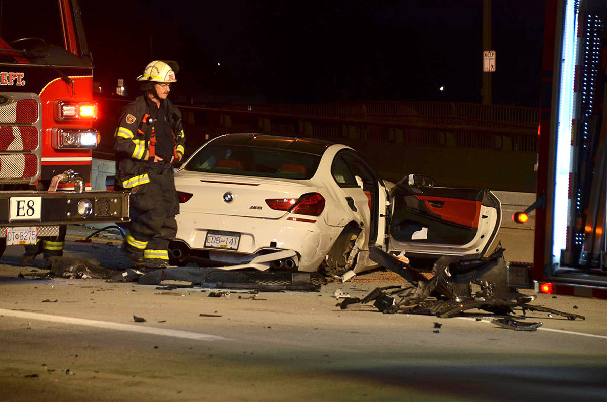 VIDEO: Several sent to hospital after night-time crash on Golden Ears Bridge
