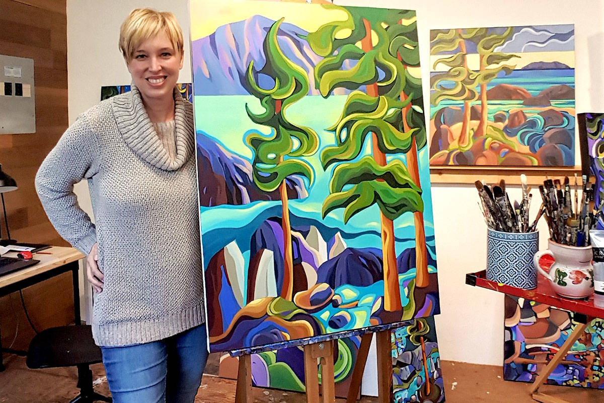 Artist Jodie Blaney will take part in West Fine Art Show. (Jeff Wallace/Special to the Langley Advance Times)
