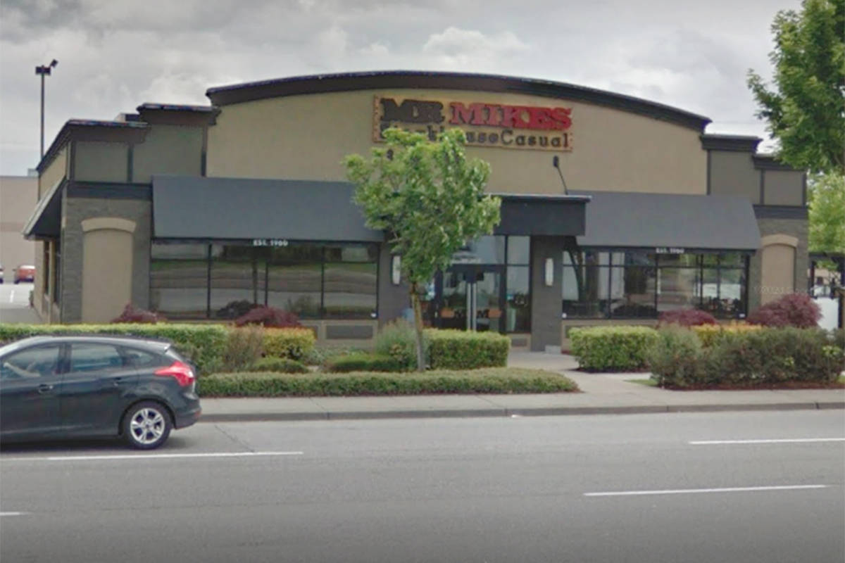 MR.MIKES in Langley is hosting a community barbecue in benefit of Encompass Support Services Society on Sunday, Sept. 6, 2020. (Google Maps)