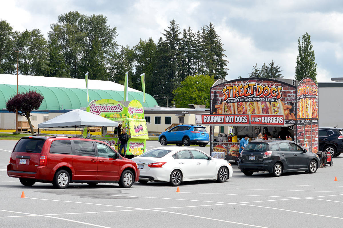 Greater Vancouver Food Truck Festival first used drive-thru format in Langley. (Ryan Uytdewilligen/Langley Advance Times)