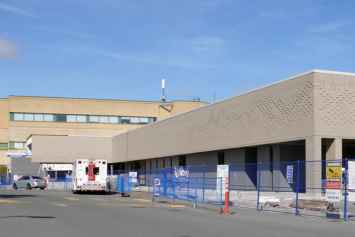 Three patients tested positive during a COVID-19 outbreak at Langley Memorial Hospital (Dan Ferguson/Langley Advance Times)
