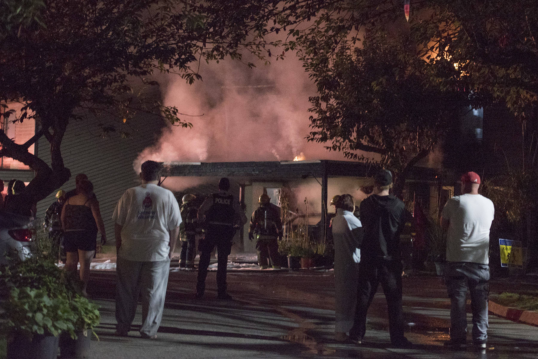 Maple Ridge fire department responded to a townhouse fire at 207 Street and Dewdney Trunk Road in the early hours of Thursday, Sept. 3, 2020. (Special to The News)