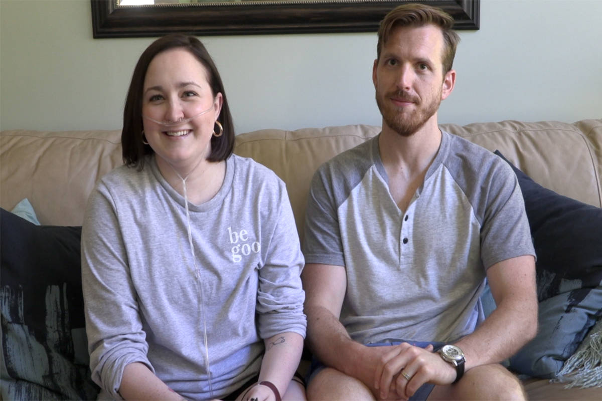 Nicole and Ben Stringer have spent the summer working to bring awareness to life-saving medication for cystic fibrosis patients. (Twila Amato - Black Press Media)