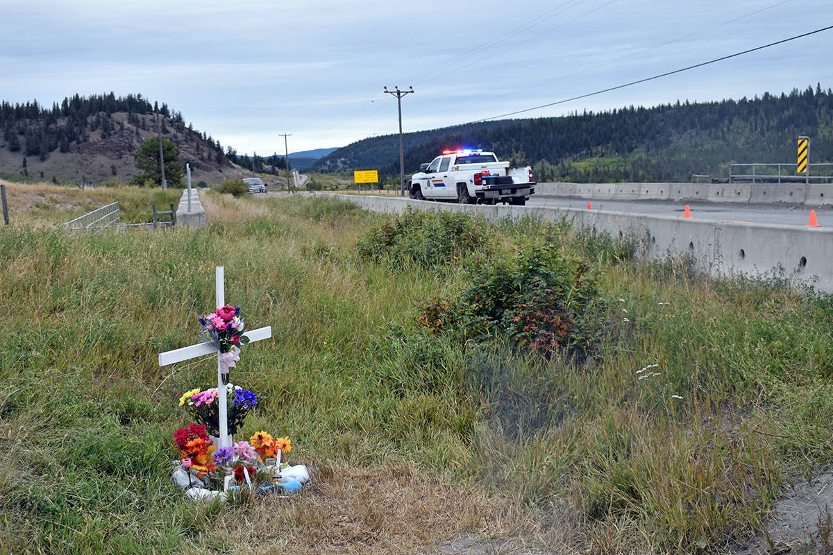 Nevada Billy was killed in a two-vehicle crash at the intersection of Highway 20 and Redstone Reserve Road west of Williams Lake on Sunday, Aug. 30. Four others were sent to hospital. Alcohol is a suspected factor, Alexis Creek RCMP said. (Rebecca Dyok photo)