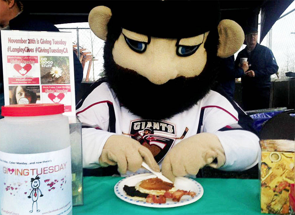 Jack the Giant will be taking part in a food drive to help out the Langley Food Bank on Saturday, Sept. 18. (Langley Advance Times files)