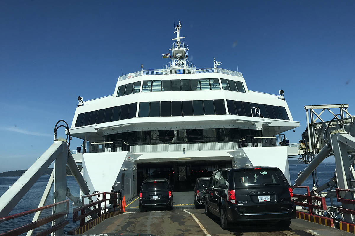 BC Ferries is experiencing heavy traffic with long weekend travellers heading back to the Lower Mainland. (Kendra Crighton/News Staff)