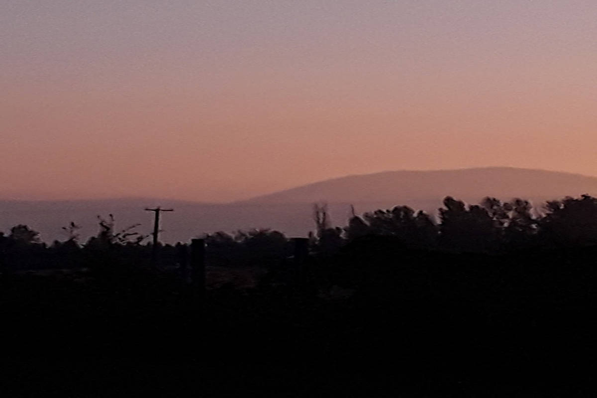 Most of Southern B.C. including the Lower Mainland, Vancouver Island, the Okanagan and Boundary residents woke up to somewhat smoky skies Tuesday, Sept. 8 and provincial officials warned the smoke could last 24-48 hours. (Wendy MacLean/Facebook)